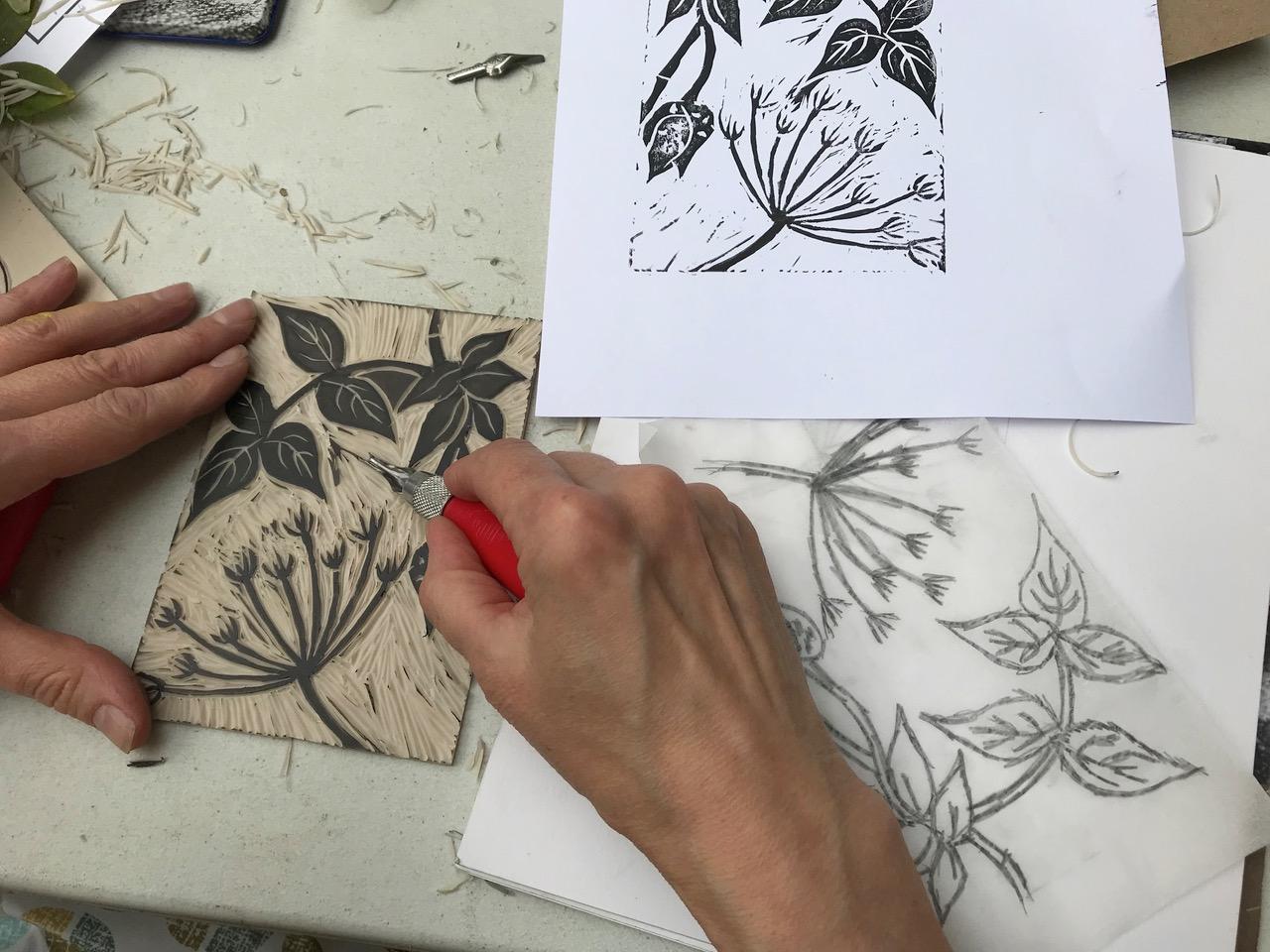 Linocut Print Making