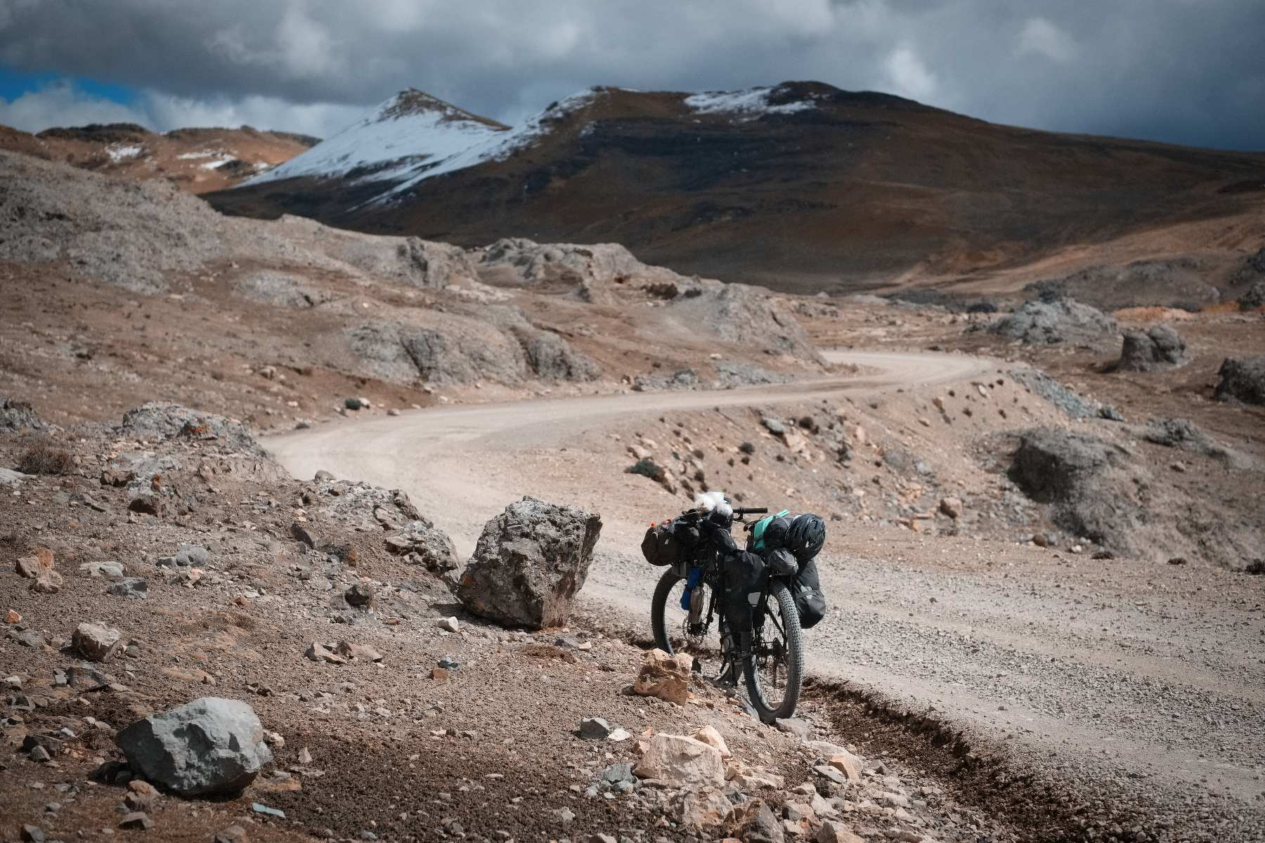 Cycling at 5000m in the Peruvian Andes