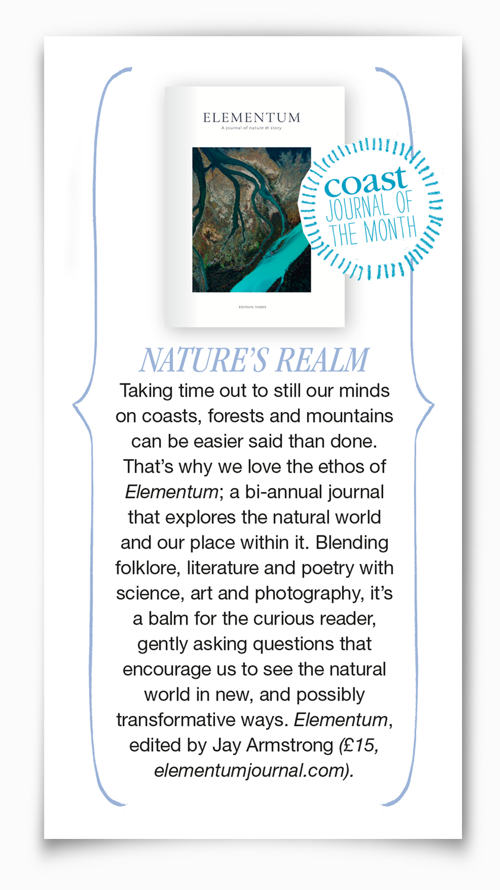 Elementum Journal review in Coast Magazine snippet