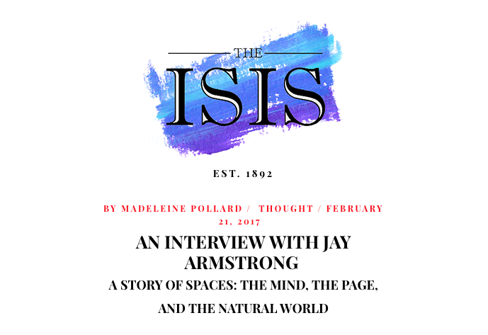 ISIS Magazine snippet - an interview with Jay Armstrong of Elementum Journal